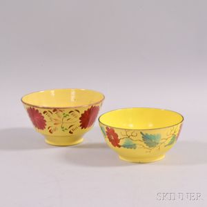 Two Floral-decorated Ceramic Bowls