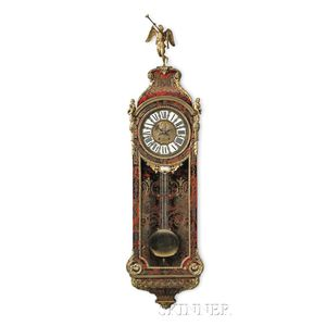Large French Ormolu-mounted Boulle Wall Clock