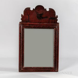 Paint-decorated Queen Anne Mirror