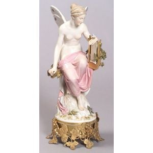 Meissen Porcelain Figure of a Winged Woman
