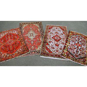 Four Hamadan Rugs