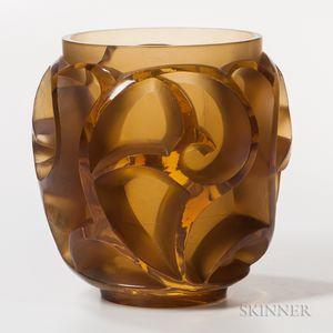 Rene Lalique Tourbillons Art Glass Vase