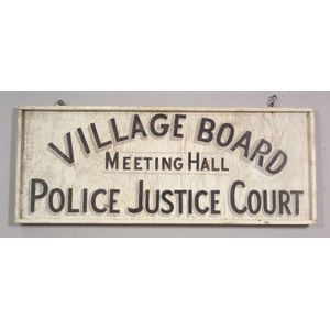 Painted Wooden Village Board Sign