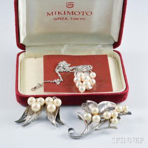 Group of Designer Sterling Silver and Pearl Jewelry