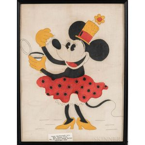 Framed Minnie Mouse Needlework Pattern
