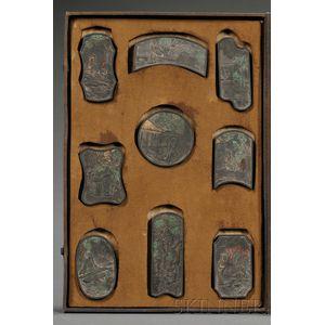 Box of Nine Ink Blocks