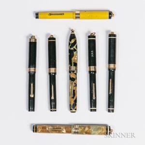 Seven Diamond Medal Pen Company Ring-top Fountain Pens