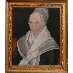American School, 19th Century      Portrait of Sarah Smith Bowen.