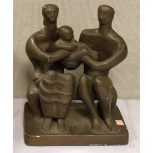 After Henry Moore (British, 1898-1986)      Figural Group
