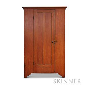 Shaker Red-painted Pine Cabinet