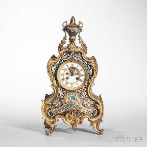 Champleve Mantel Clock
