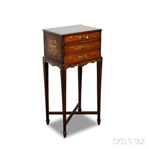 Anglo-Indian-style Inlaid Chest on Stand
