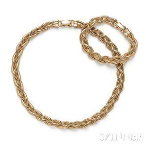 14kt Gold Necklace and Bracelet