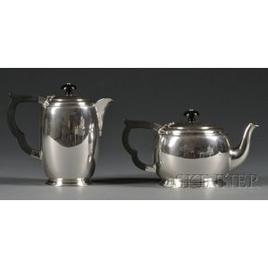 George VI Silver Coffee Pot and Matching Teapot