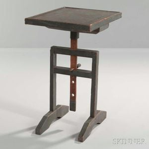 Blue/gray-painted Adjustable Stand