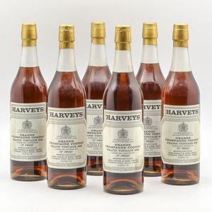 Harveys Frapin Grand Champagne Cognac 1942, 6 24oz bottles