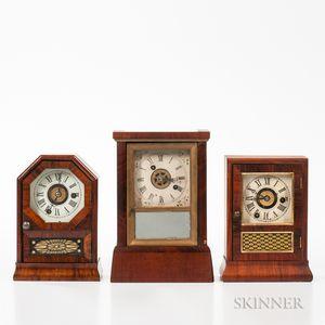 Three Connecticut Miniature Cottage Clocks