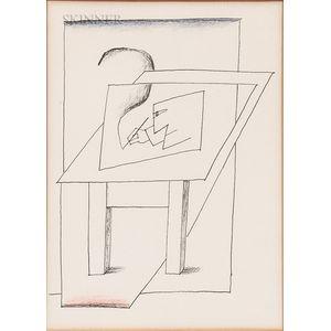 Saul Steinberg (American, 1914-1999)      Untitled