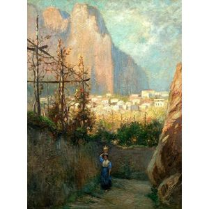 Edmund H. Garrett (American, 1853-1929)    Path of the Marina Grande, Capri.