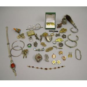 Approximately Forty Victorian and Later Jewelry Items