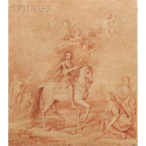 After Sir Godfrey Kneller (British, 1646-1723)      Equestrian Portrait of William III