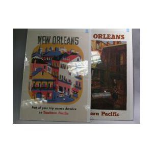 Two Southern Pacific Railroad Posters of New Orleans