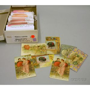 Collection of Assorted Early 20th Century Holiday-related Postcards