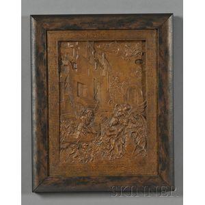 French Bronze Relief Plaque After Durer