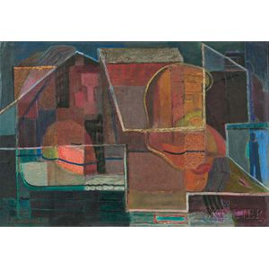 Pleasant Ray McIntosh (American, 1897-1985)      Metropolitan Abstraction