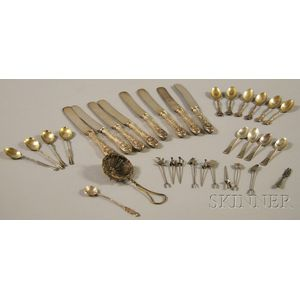 Small Group of Assorted Mostly Sterling Silver Flatware