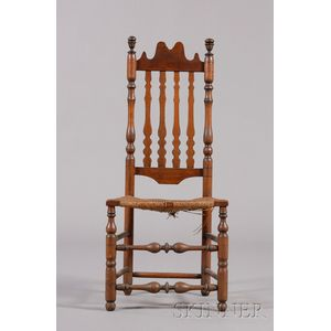 Maple and Ash Bannister-back Side Chair