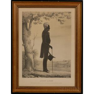 E.B. & E.C. Kellogg, lithographers (Connecticut, 19th Century)      Silhouette of Andrew Jackson