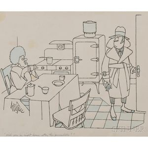 New Yorker   Cartoon, George Price (1901-1995) Original Artwork
