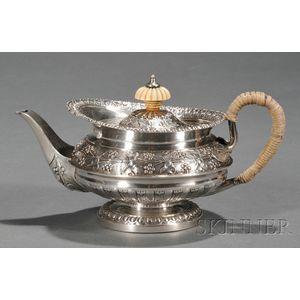 George IV Silver Tete-a-Tete Teapot