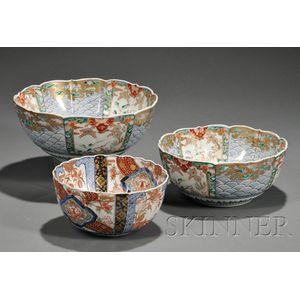 Three Imari Bowls