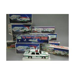 Twenty Boxed Hess Vehicles.