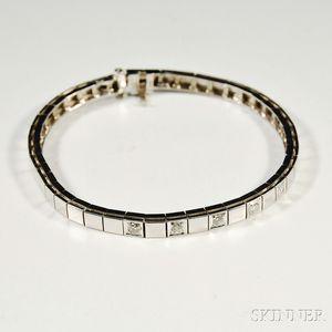 14kt White Gold and Diamond Bracelet