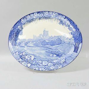 "Enoch Wood & Son ""Castles"" Transfer-decorated Platter"