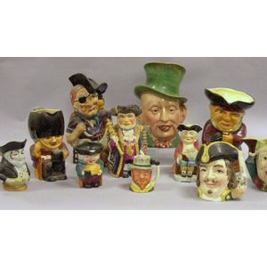 Eleven Assorted Ceramic Toby-type Jugs.