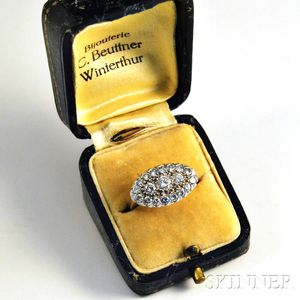 14kt Gold, Platinum, and Diamond Ring