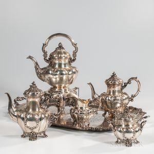 Six-piece Italian .800 Silver Tea and Coffee Service