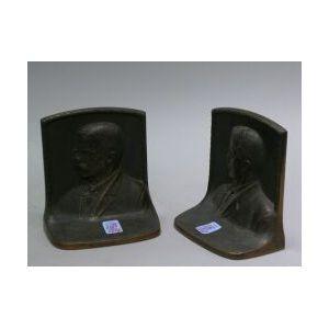 Pair of Bronze Teddy Roosevelt Bookends