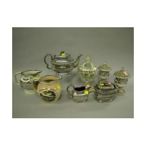 Eight Pieces of Silver Lustreware