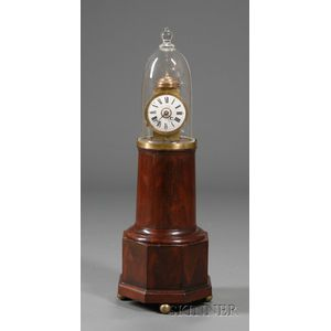 "Mahogany Patent Alarm Timepiece or ""Lighthouse"" Clock"