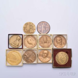 Ten Mostly Religious Bronze Medals