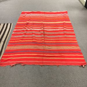 Two Striped Flatweave Rugs