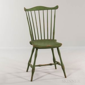 Lime Green-painted Windsor Fan-back Side Chair