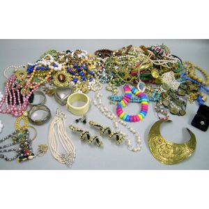 Large Assortment of Costume Jewelry.