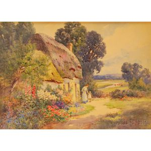 Thomas Noelsmith (British, fl. 1889-1900)      A Devonshire Cottage