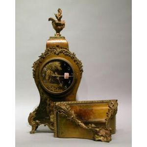 Louis XVI Style Ormolu Mounted Paint Decorated Mantel Clock